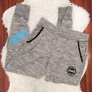 PINK Joggers Gray Blue and Black